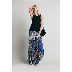 Free People show you off gauze boho maxi skirt